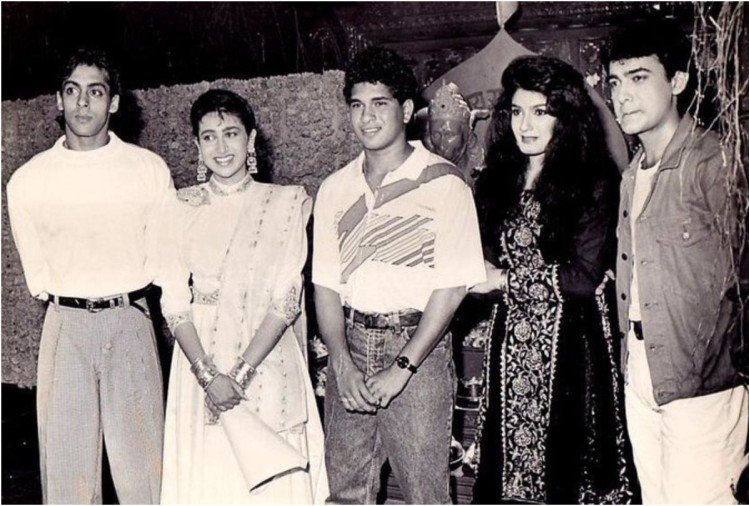 Sachin Tendulkar at muhurat of Andaz Apna Apna