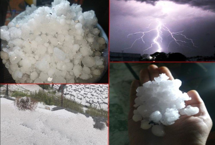Uttarakhand Weather: Heavy Hail Storm with rain in dehradun, snowfall in hilly areas, Amazing Visuals Photos