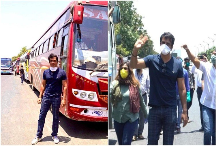 Sonu Sood Arranged Buses For Migrants Stuck In Mumbai During ...