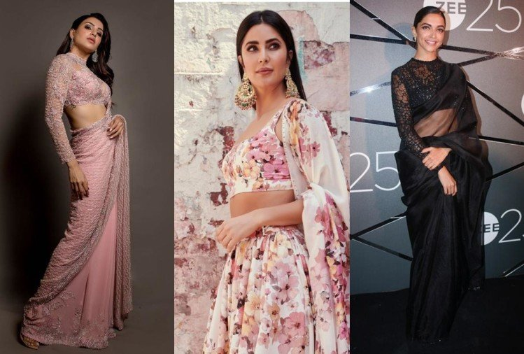 katrina kaif deepika padukone to anushka sharma look gorgeous in sheer through saree
