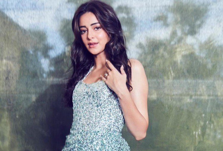 ananya panday sequin halpern studio blue dress is very costly