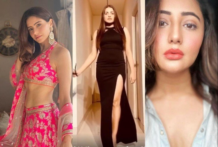 latest glamorous look tv celebs monalisa himanshi khurana hina khan and many more