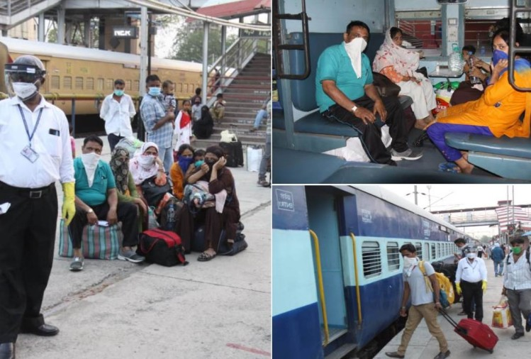 passengers travelled in Gomti, Pushpak and Lucknow Mail after lockdown
