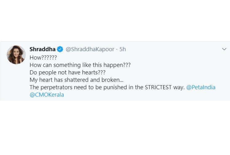 Shraddha Kapoor's tweet