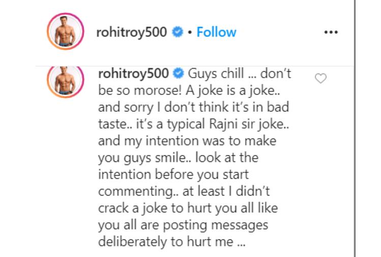 Rohit Roy's post