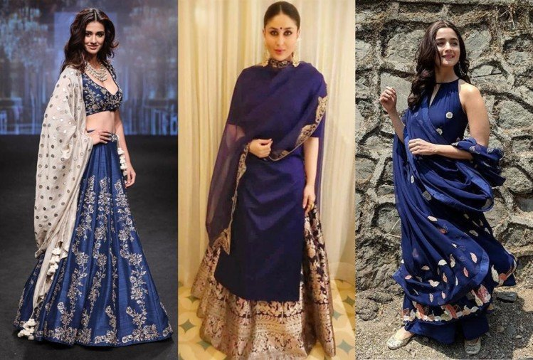 kareena kapoor to alia bhatt bollywood actress looking stunning in blue shade ethnic wear