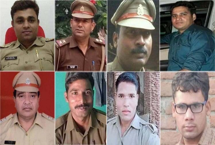 कानपुर एनकाउंटर में आठ पुलिसकर्मी शहीद