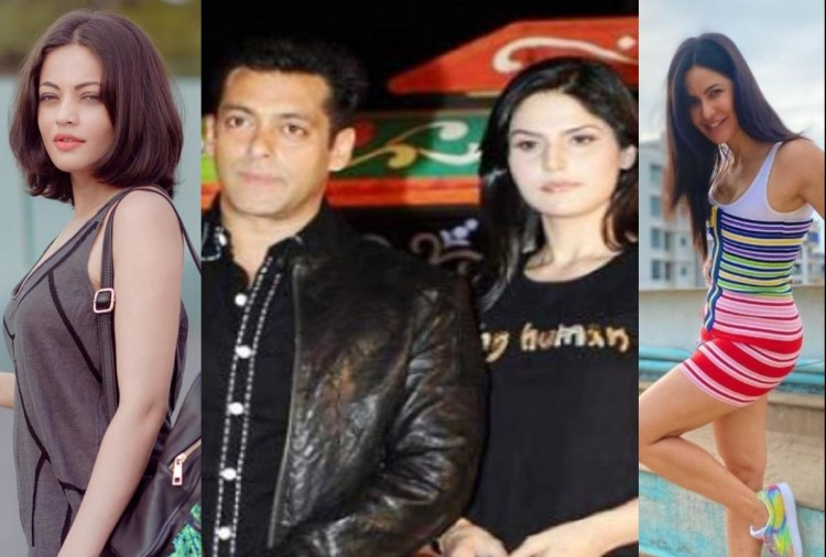 these beautiful actresses sonakshi sinha zareen khan katrina kaif and other started her career with salman khan