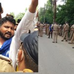 assaulting Nigerian students in roorkee, bheem army protest, police force deployed
