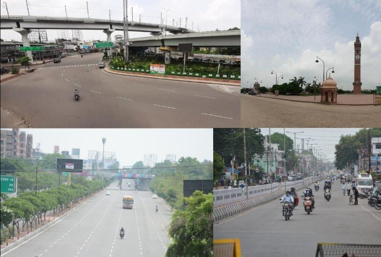 pics of lucknow during lockdown on saturday
