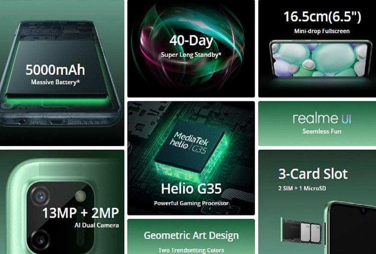 Realme C11 Sale Today In India From Flipkart And Realme Website Know Price And Specifications – Realme C11 की सेल आज, 5000mah की बैटरी और रिवर्स चार्जिंग से लैस है फोन