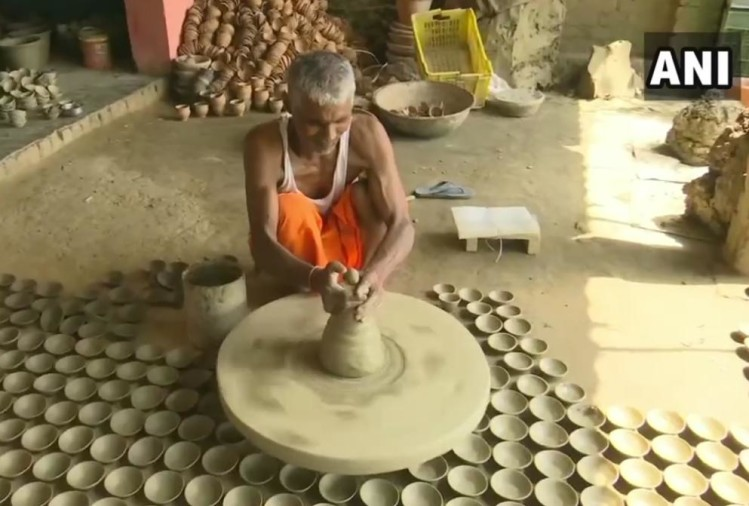 Earthen lamps being made, ahead of the foundation stone laying ceremony of the Ram Temple.
