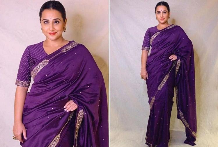 Vidya Balan Wear Maths Formula Design Saree For Shakuntala Devi ...