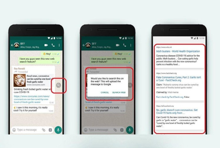 Fake news will be controlled: Whatsapp Search the Web