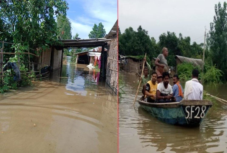 Weather forecast today update in uttarakhand news: flood In Sitarganj Village, Waterlogging in 250 Houses, Photos