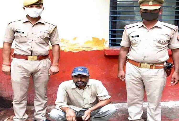 पुलिस गिरफ्त में आरोपी धर्मपाल सिंह