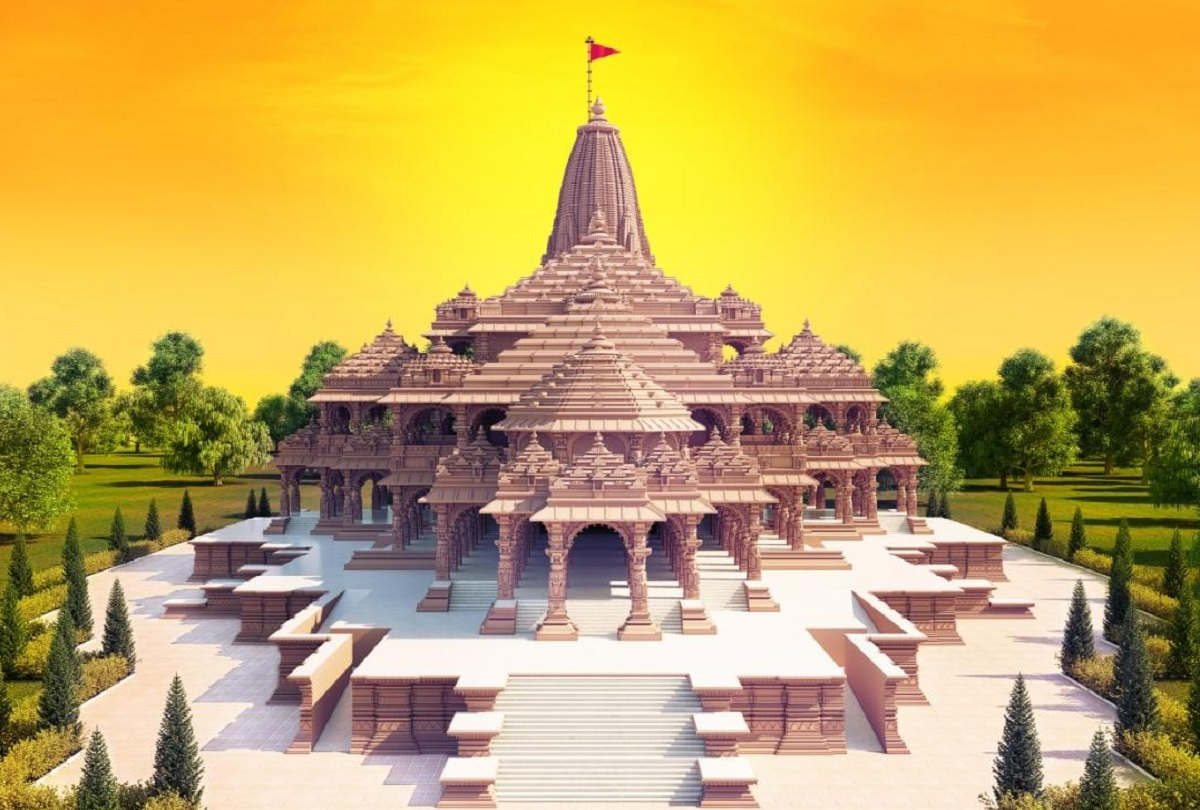 राम मंदिर परिसर का प्रस्तावित मॉडल