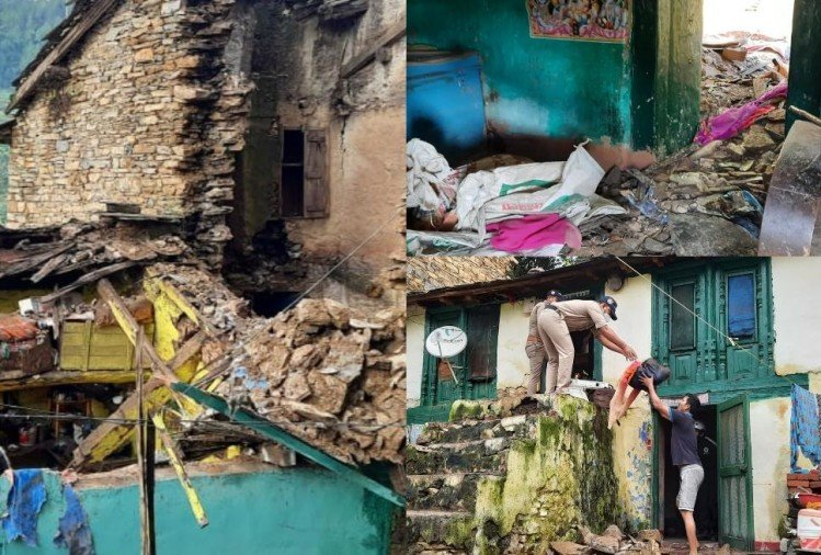 Uttarakhand Latest News Update in hindi : house collapse in pithoragarh, ground zero photos