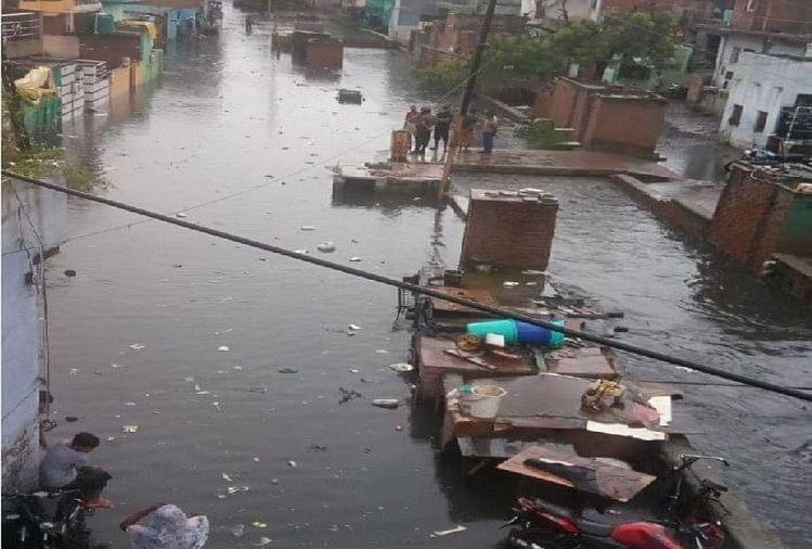 राजनगर में जलभराव