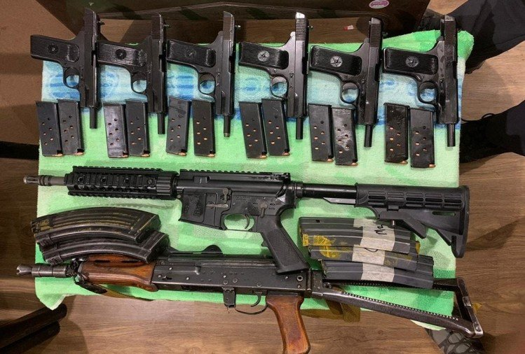 Arms recovered from suspects