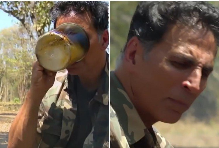 "Akshay's experiance with bear ""drink the tea of the elephant's lead"""
