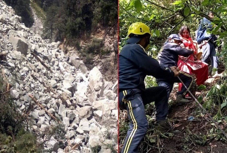 Weather Forecast Today Update in Uttarakhand News: Yamunotri Highway 40 meter Road Collapse, yatra stop