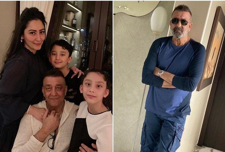 संजय दत्त परिवार के साथ