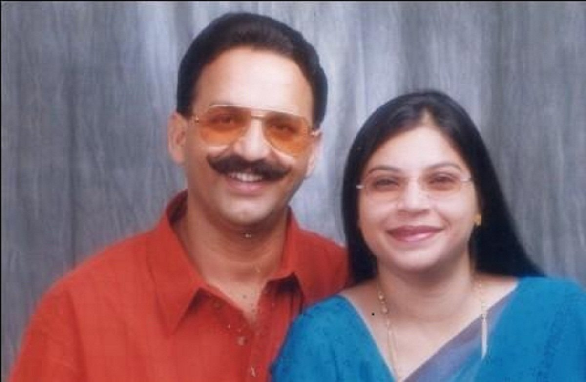 MLA Mukhtar Ansari and wife.