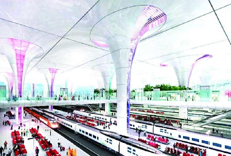 दिल्ली रेलवे स्टेशन अंतरराष्ट्रीय हवाई अड्डे जैसा दिखने लगेगा
