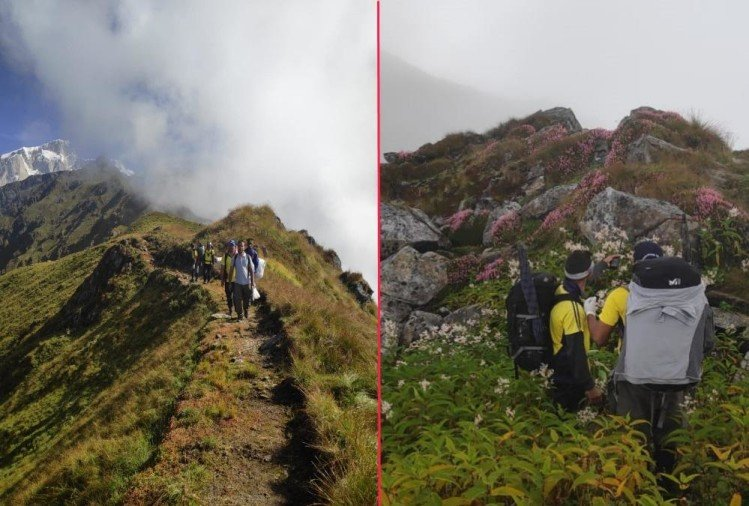 Kedarnath Visuals of search operation for Human Skeleton in inaccessible area Bad weather