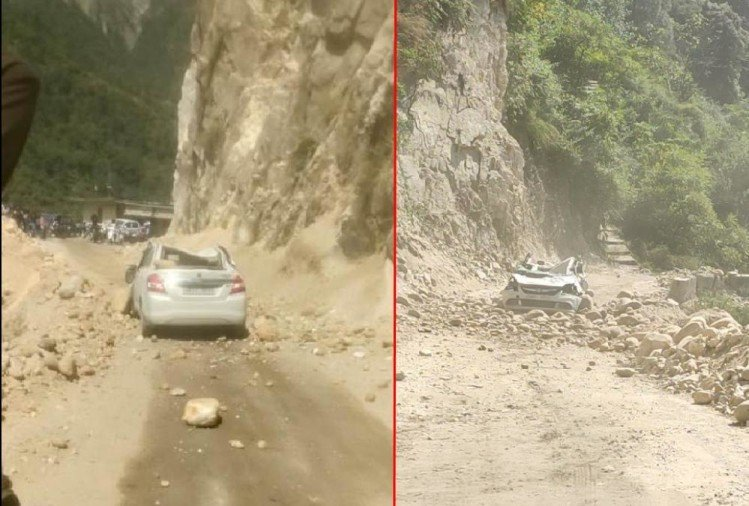 Rishikesh Badrinath Highway: Debris fell on car, 90 vehicle stuck during traffic jam