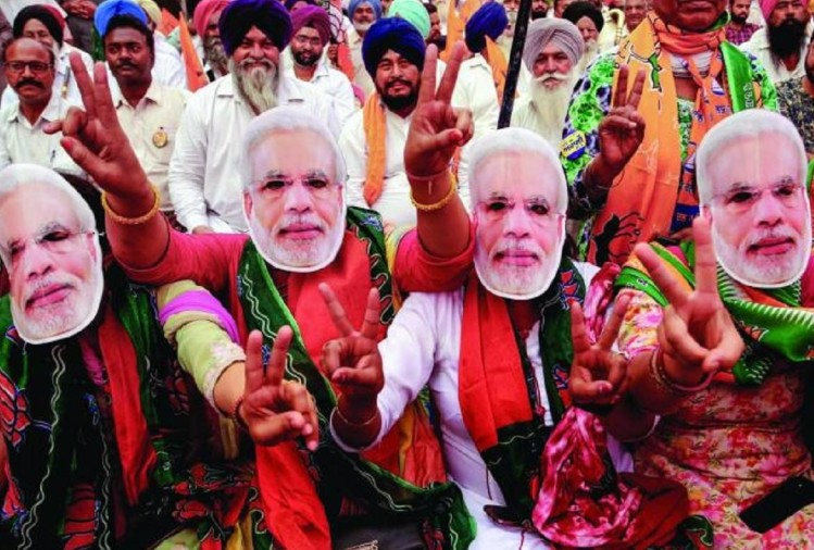BJP supporters wear masks of Prime Minister Narendra Modi (File Photo)