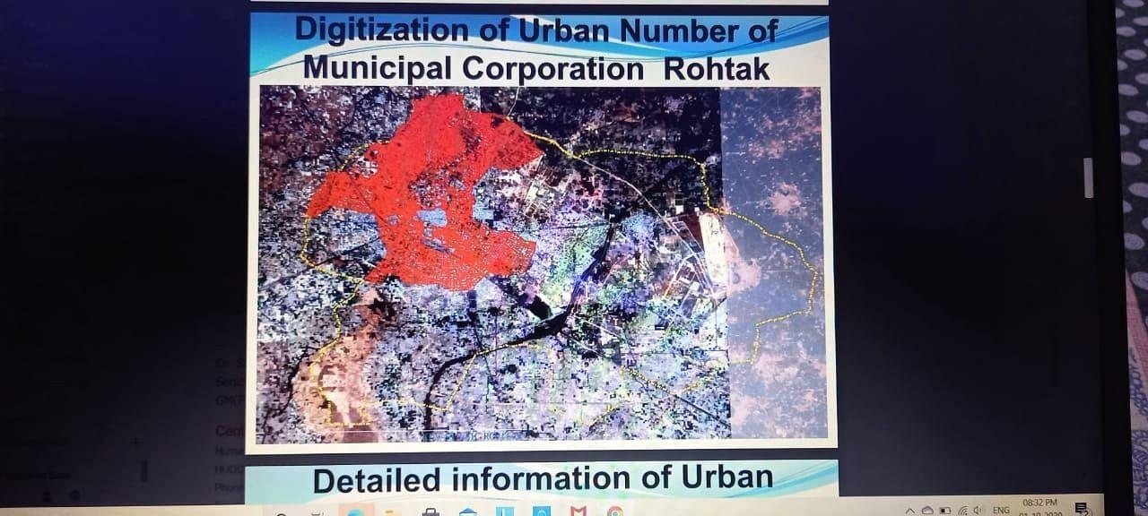नगर निगम की जियो लैब द्वारा तैयार किया शहर के लालडोरे एरिया का नक्शा।