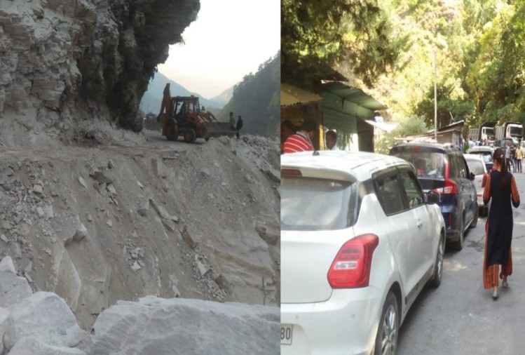 Unlock 5.0 in Uttarakhand Latest News Today: Badrinath Highway Closed after Landslide, Vehicle Traffic jam