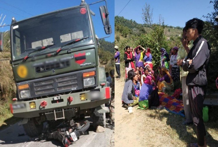 Uttarakhand Accident News: Army Vehicle and Bike Accident on Pithoragarh Highway, 19 Year old Boy Died, Photos