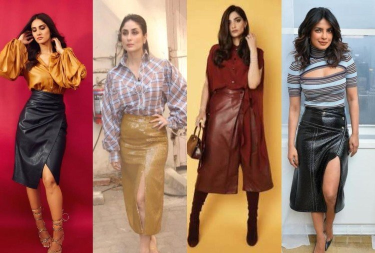 katrina kaif priyanka chopra to kareena kapoor other bollywood actress wear leather skirt for gorgeous look