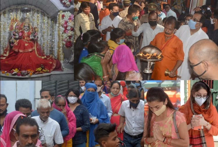 Pics of Lucknow temple on the first day of Navratra.