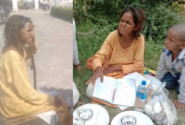 haridwar news: education double MA, yet woman begging in haridwar