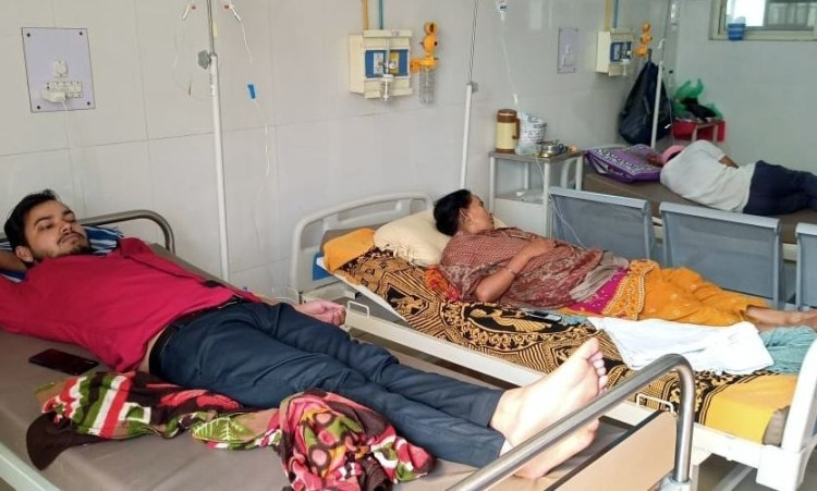 Treatment of 78 patients undergoing corona examination in hundred beds