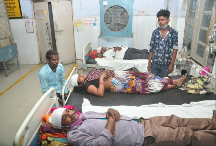 Imrat, Geeta and Suraj injured in village sire incident in district hospital