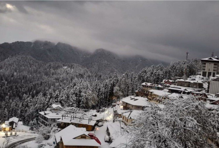winter season first snowfall in shimla kufri narkanda and manali