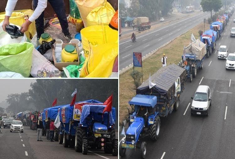 Kisan Andolan Haryana News: Farmers Also Arranged Ration For Delhi Chalo  March - लंबे संघर्ष के मूड में किसान, छह माह का राशन, दवाएं, टेंट और लंगर  का भी इंतजाम - Amar