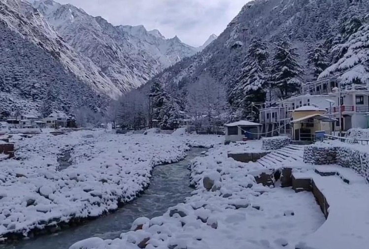 Today Uttarakhand Snowfall News Update in Hindi: beautiful snowfall photos in high hilly areas