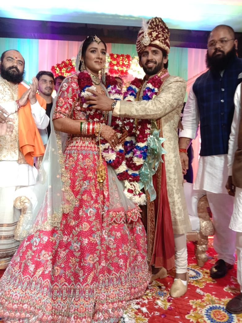 Sangeeta and Bajrang's marriage became an example of simplicity