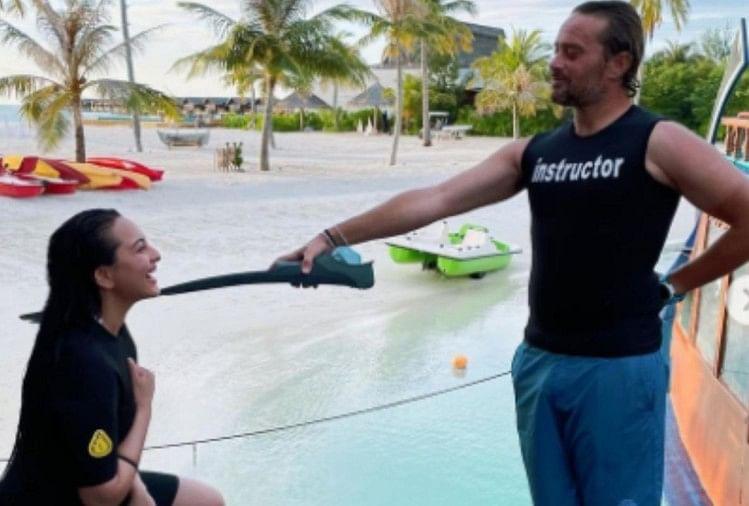 Sonakshi Sinha Shared Her Maldives Vacation Pictures And Said I Am Now A Licensed Scuba Diver - लंबे इंतजार के बाद मालदीव में सोनाक्षी सिन्हा का सपना हुआ पूरा, पोस्ट लिखकर बताया- '