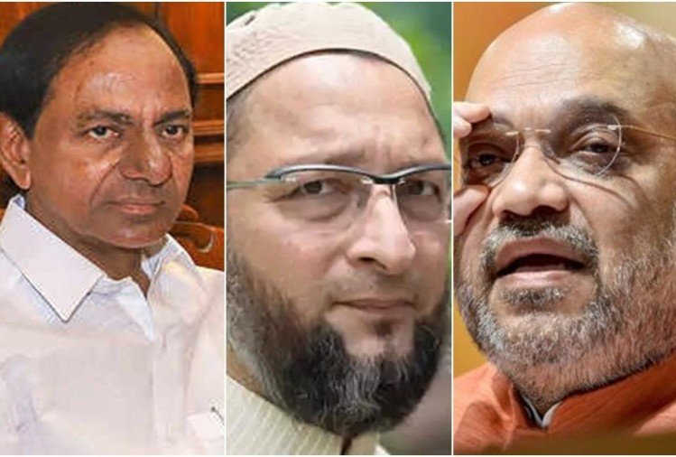 Hyderabad election results ghmc live updates asaduddin owaisi chandrasekhar rao shah bjp trs aimim congress others