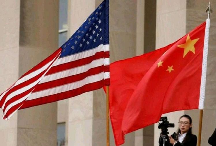 यूएस और चीन का झंडा