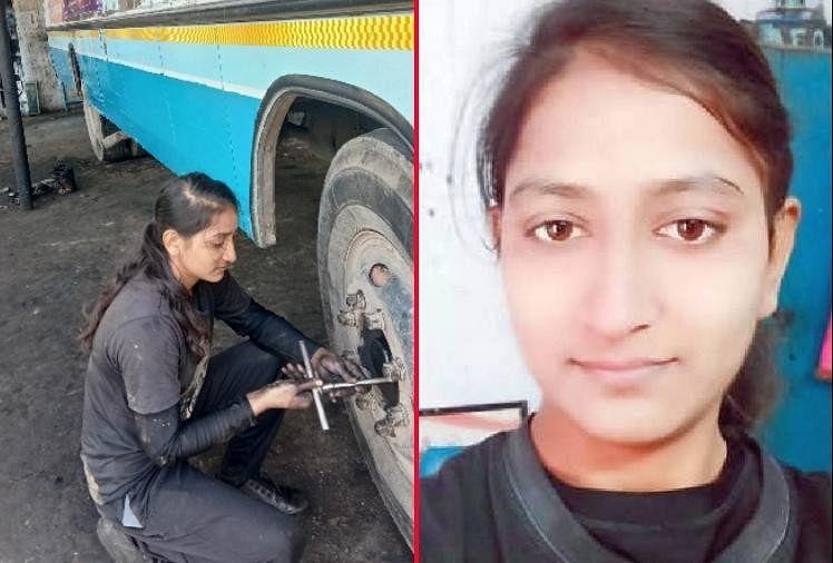पिता का साया उठा पर नहीं टूटा बेटी का हौसला, रोडवेज बसों की मरम्मत कर चलाती है घर