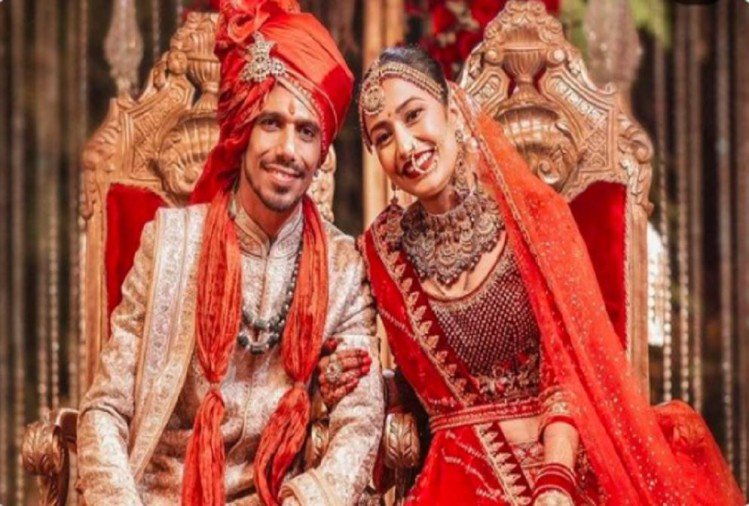 Dhanashree Verma Beautiful Bride In Designer Tarun Tahiliani Lehenga Tie The Knot With Yuzvendra Chahal - इस मशहूर डिजाइनर के लहंगे में दुल्हन बनीं क्रिकेटर युजवेंद्र चहल की मंगेतर ...