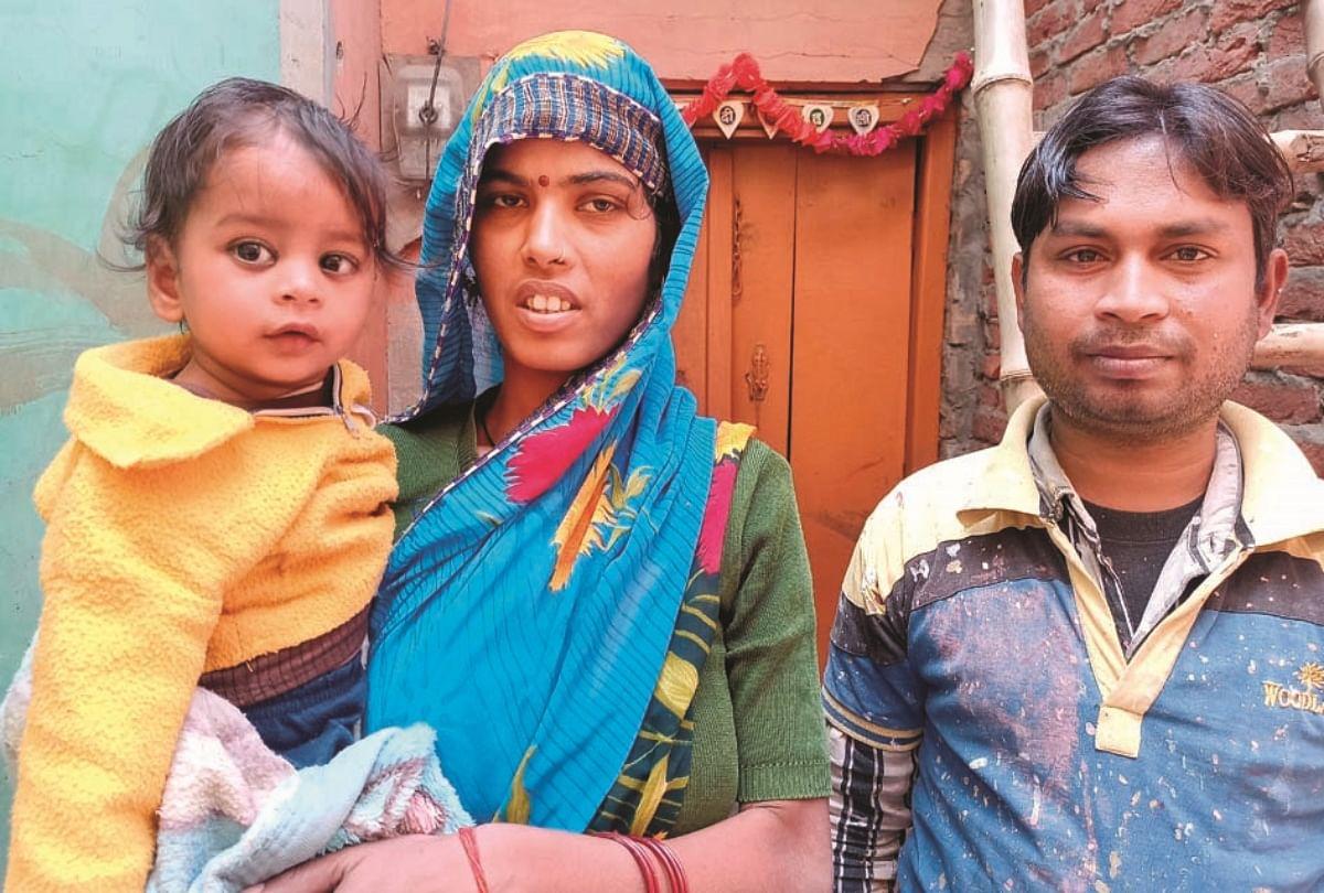 बीसलपुर के कुपोषण पीड़ित कार्तिक अपनी मां राजवती व पिता उमाशंकर के साथ